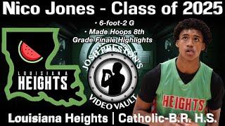 Nico Jones (Louisiana Heights/Catholic-B.R. 2025 G) - MADE Hoops 8th Grade Finale Highlights