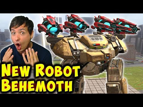 OMG! NEW ROBOT BEHEMOTH Test Server War Robots Gameplay WR
