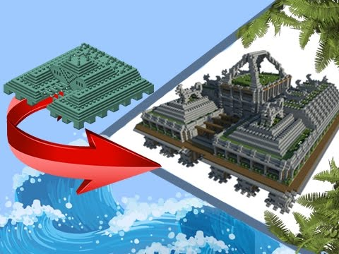 Minecraft: Transformation - Ocean Monument To Land Monument!