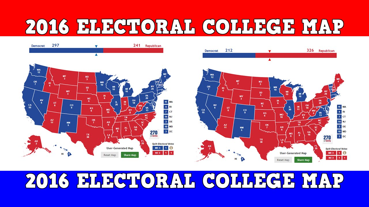 Us Election Final Electoral Map - Voting map 2016 us