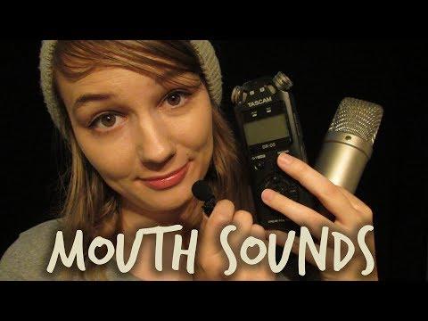 ASMR Mouth Sounds & Unintelligible Whispering (Hi-Fi to Lo-Fi)