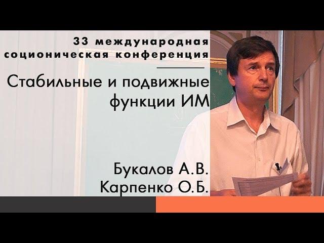 Букалов А.В., Карпенко О.Б. Стабильные и подвижные функции ИМ