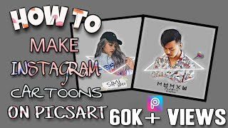 How To Make Instagram Trendy Cartoons | Picsart | EASY METHOD |