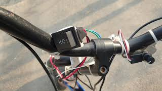 2인용 세발 페달 자전거 전기 모터 장착 개조 elec…