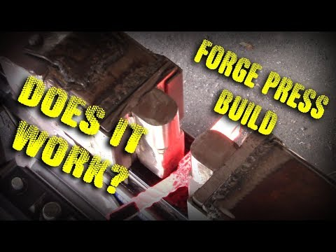 6 Ton Log Splitter to Forge Press Build