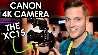 Quick look at the canon xc15 4k professional camcorder ces in las vegas! ***** check out #ces2017 video playlist here: http://bit.ly/ces2017playlist c...