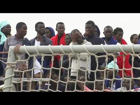 Rescued migrants arrive in Sicily