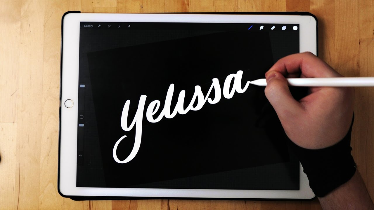Brush calligraphy on ipad pro apple pencil youtube