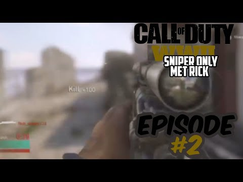 Call of duty world war 2 Sniper only tegen rick - #3 - ZO DICHTBIJ