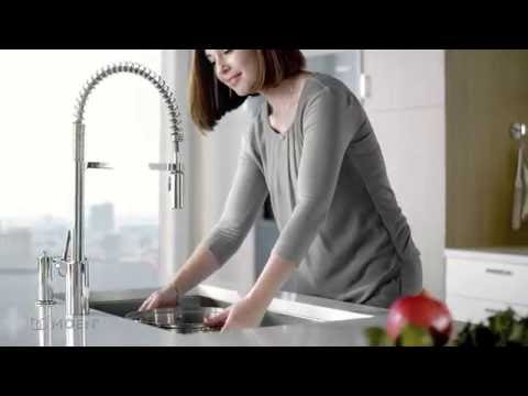 Align® Pre Rinse Spring Kitchen Faucet | Moen Features Spotlight   YouTube