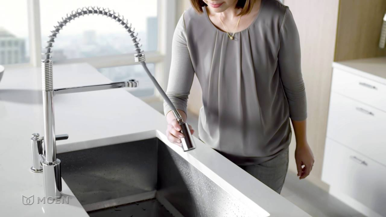 align pre rinse spring kitchen faucet