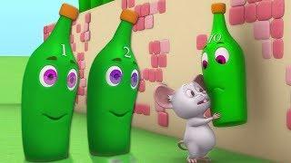 dix bouteilles vertes | numéros 1 à 10 | comptage bouteilles chanson | comptines | Ten Green Bottles