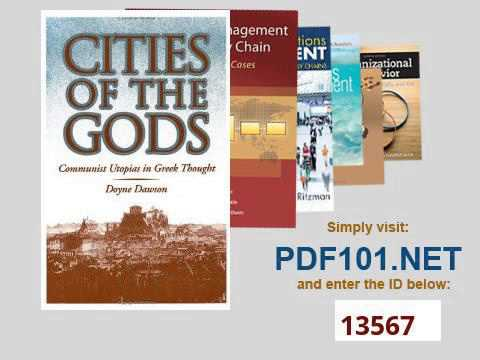Cities of the Gods Communist Utopias in Greek Thought