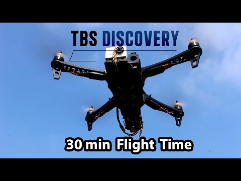 TBS Discovery 30 Min Flight Time without extended arms!
