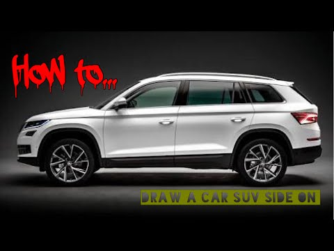 How To Draw Basic Car Suv Side On