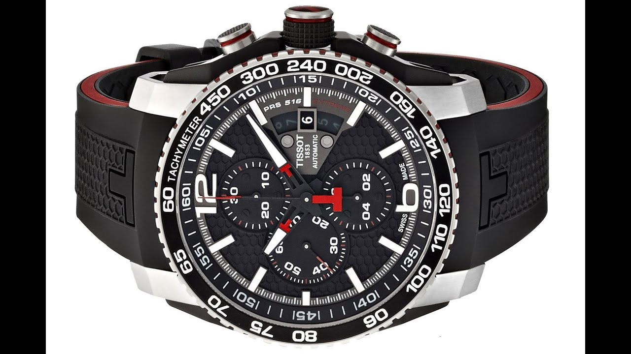 bfdfad4e6d5 Tissot Men's T0794272705700 PRS 516 Stainless Steel Automatic Watch with Black  Rubber Band