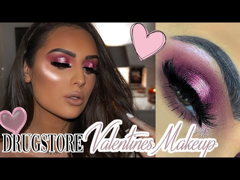 DRUGSTORE VALENTINES DAY MAKEUP *2019* thumbnail