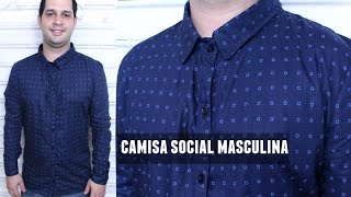 CAMISA SOCIAL MASCULINA + MOLDE BASE