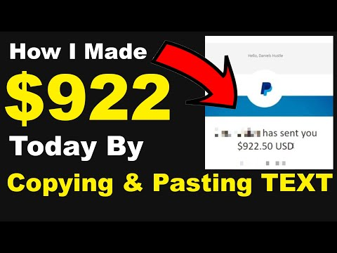 How I made $922 Today By Copying & Pasting Text (FREE & EASY) - How To Make Money Online In 2021