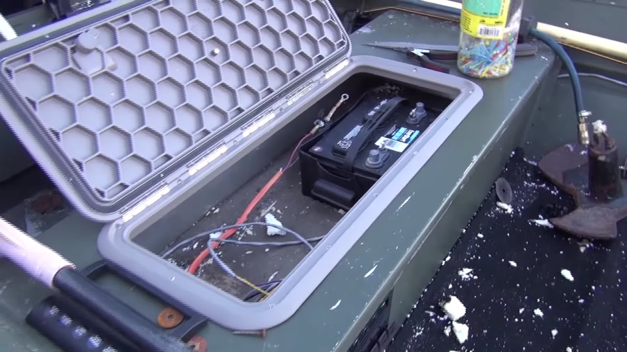 Jon Boat Battery Compartment