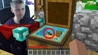 I secretly built a base inside a Streamers chest in Minecraft...