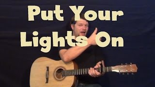 Put Your Lights On (Santana ft. Everlast) Easy Guitar Lesson How to Play Tutorial
