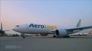 Hong Kong   Leipzig   AEROLOGIC BOX519 Boeing 777 F Takeoff at Hong Kong