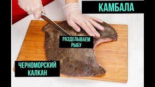 """Как правильно разделывать """"Черноморского Калкана"""" (Камбала)."""