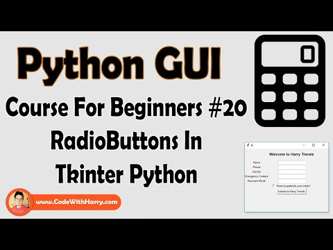 Creating RadioButtons In Tkinter | Python Tkinter GUI Tutorial In