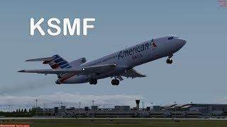 Prepar3D - Captainsim 727-200 ILS approch KSMF