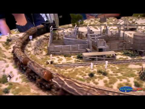 Old Western Model Train Set Up Part 1