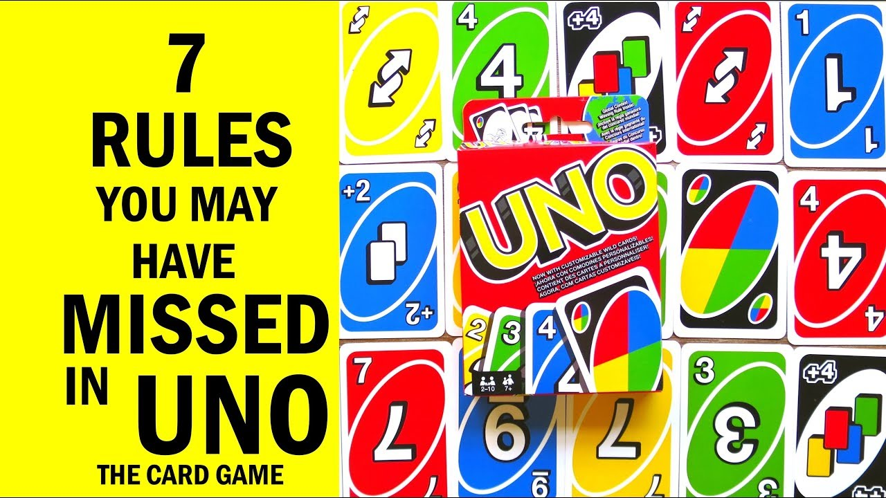 7 Rules You May Have Missed In Uno The Card Game How To Play