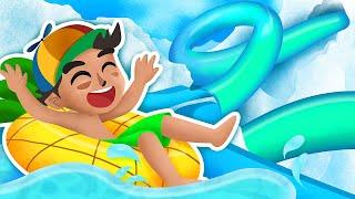 WATER SLIDING 99,999 FEET!   Roblox   Waterpark Oceanic
