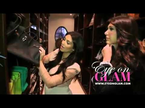Kim Kardashian Tour Closet For Eye On Glam - YouTube