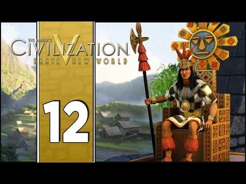 Uranium Mines - Let's Play Civilization V Gameplay (Deity Gameplay) - Incas - Part 12