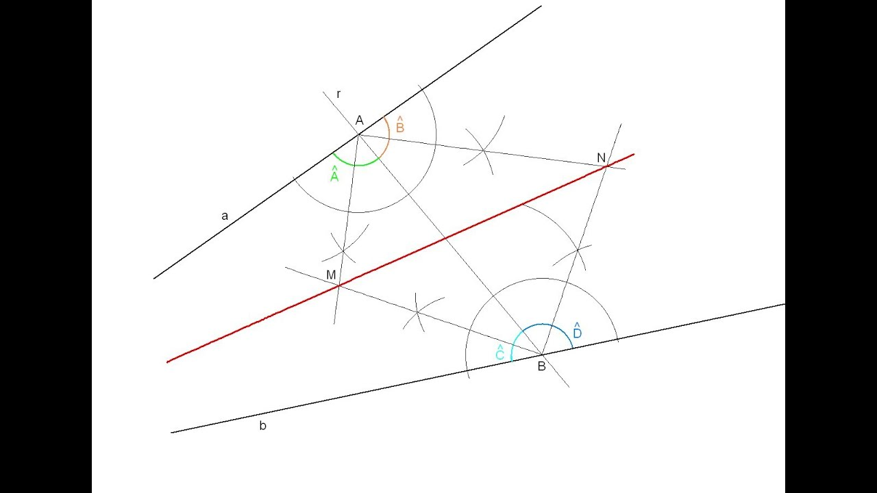 Bisectriz de un ángulo con el vértice fuera de los límites
