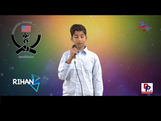 "Vihan speaking about ""How and why we should conserve nature"" in Talking Bee competitions 2016"