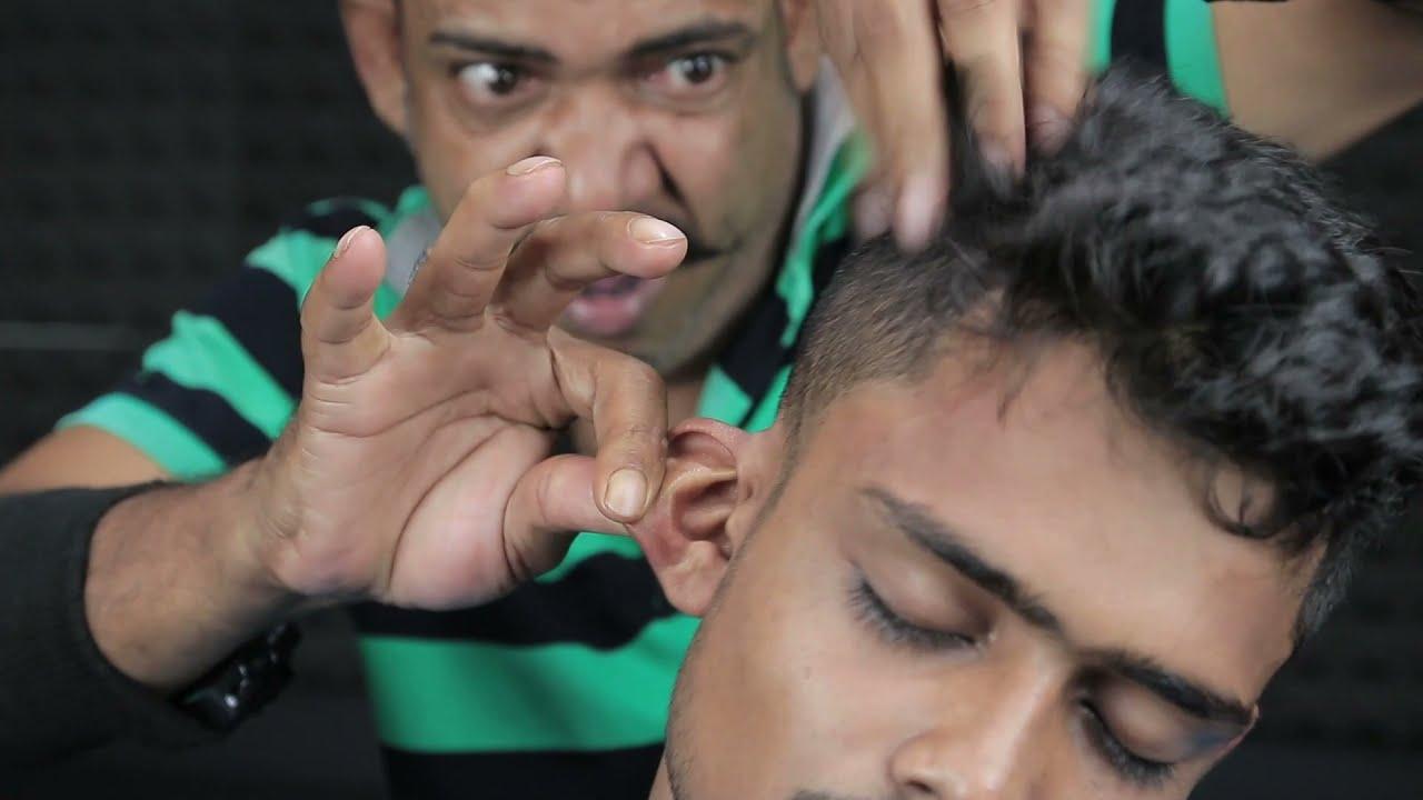 Asim Barber Shoulder Massage With Ear Crack , Hair Crack , Neck Crack Head Massage   3D ASMR SOUND