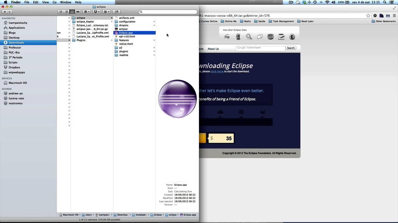 sdk install eclipse sur mac