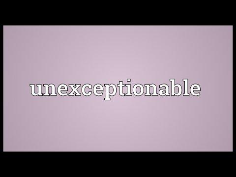 Header of unexceptionable