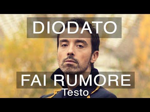 Diodato - Fai Rumore (Sanremo 2020 Testo e Musica)
