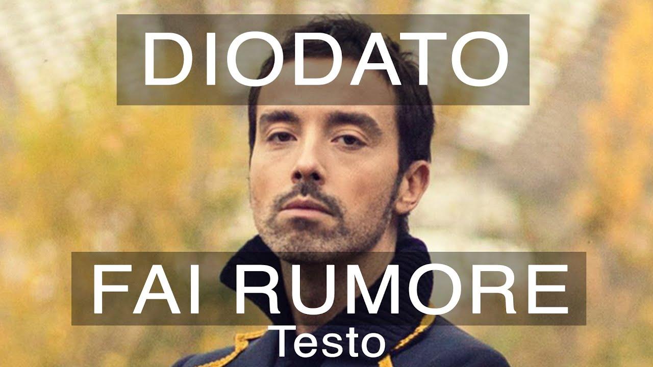 Diodato - Fai Rumore (Sanremo 2020 Testo e Musica) by chords - Yalp