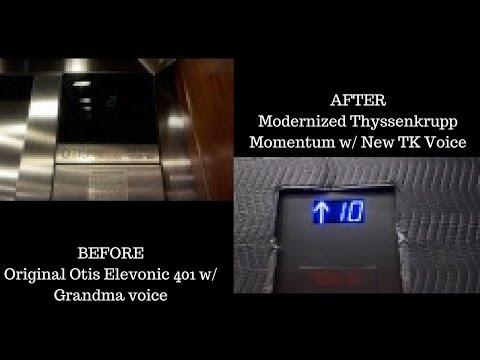 """Before & After Modernization: """"OTISsenkrupp"""" Traction Elevators at 20 North Orange, Orlando, FL"""