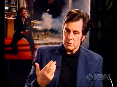 "Scarface - Al Pacino on ""Say hello to my little friend!"""