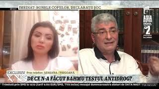 Silviu Prigoană, surprins că Adriana Bahmuţeanu nu a făcut testul antidrog