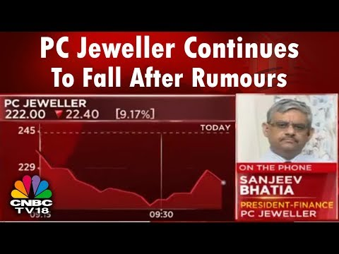 PC Jeweller Continues To Fall After Rumours | Bazaar Corp Radar | CNBC TV18