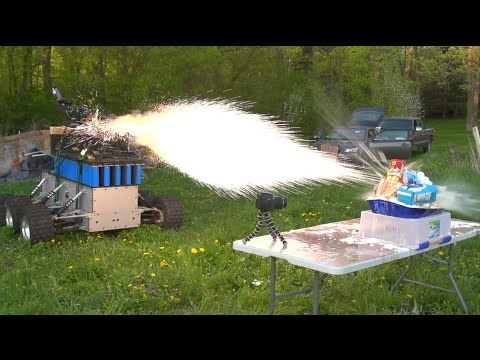 Mad Scientist's Homemade Railgun Tank Does Not Mess Around