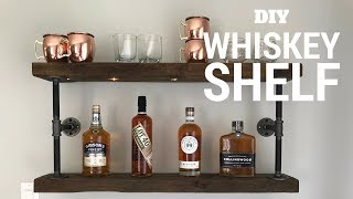 "Full Detailed Instructions at - https://www.instructables.com/id/DIY-Whiskey-Shelf/ All you need is: — Two 30"" pieces of 2x6 or similar"