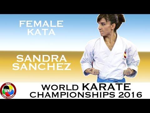 BRONZE. Sandra SANCHEZ. Female Individual Kata. 2016 World Karate Championships.