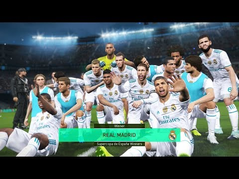 PES 2018 Master League Real Madrid Team Big Tranfer Mbappe,Suarez Success